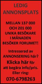 Annonsera i V�rmepumpsforum, klicka h�r f�r att st�lla e-postfr�ga och f� mer info.